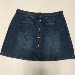 Kendall + Kylie Button Front Denim Skirt